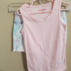 Cat and Jack Tank Top and Tie-dye Shorts sz 6/6X
